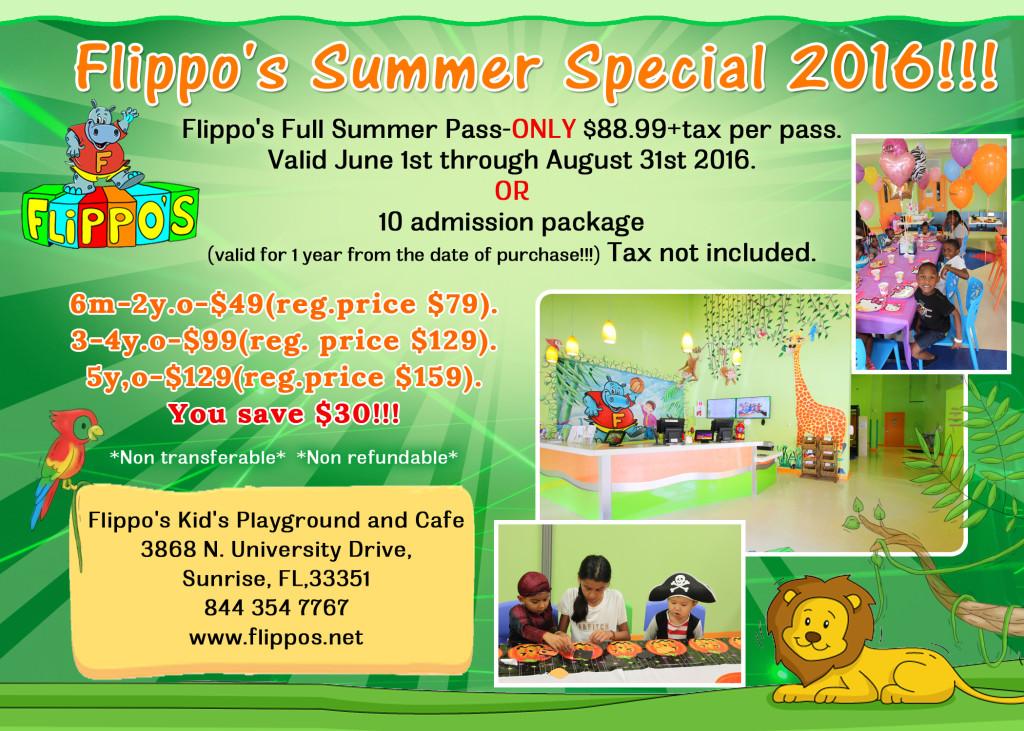 Summer Specials at Flippo's