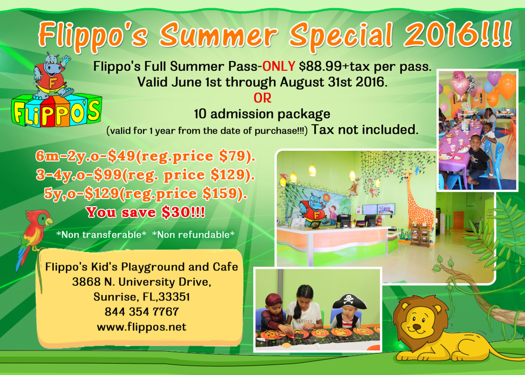 Summer Specials at Flippo's